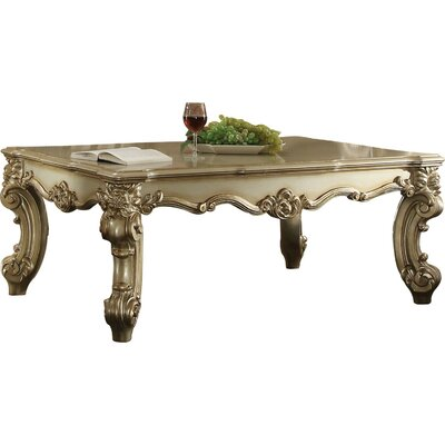 Fatima Wood Coffee Table Astoria Grand Color Gold Patina
