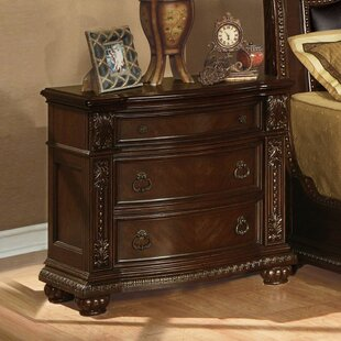 Darrius 3 Drawer Nightstand by Astoria Grand