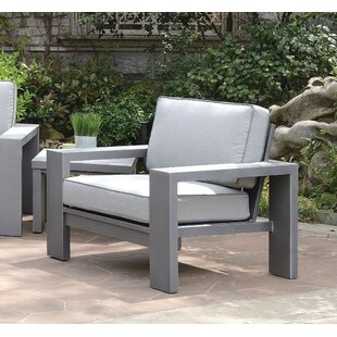 Sagers Contemporary Patio Chair with Cushions (Set of 2)