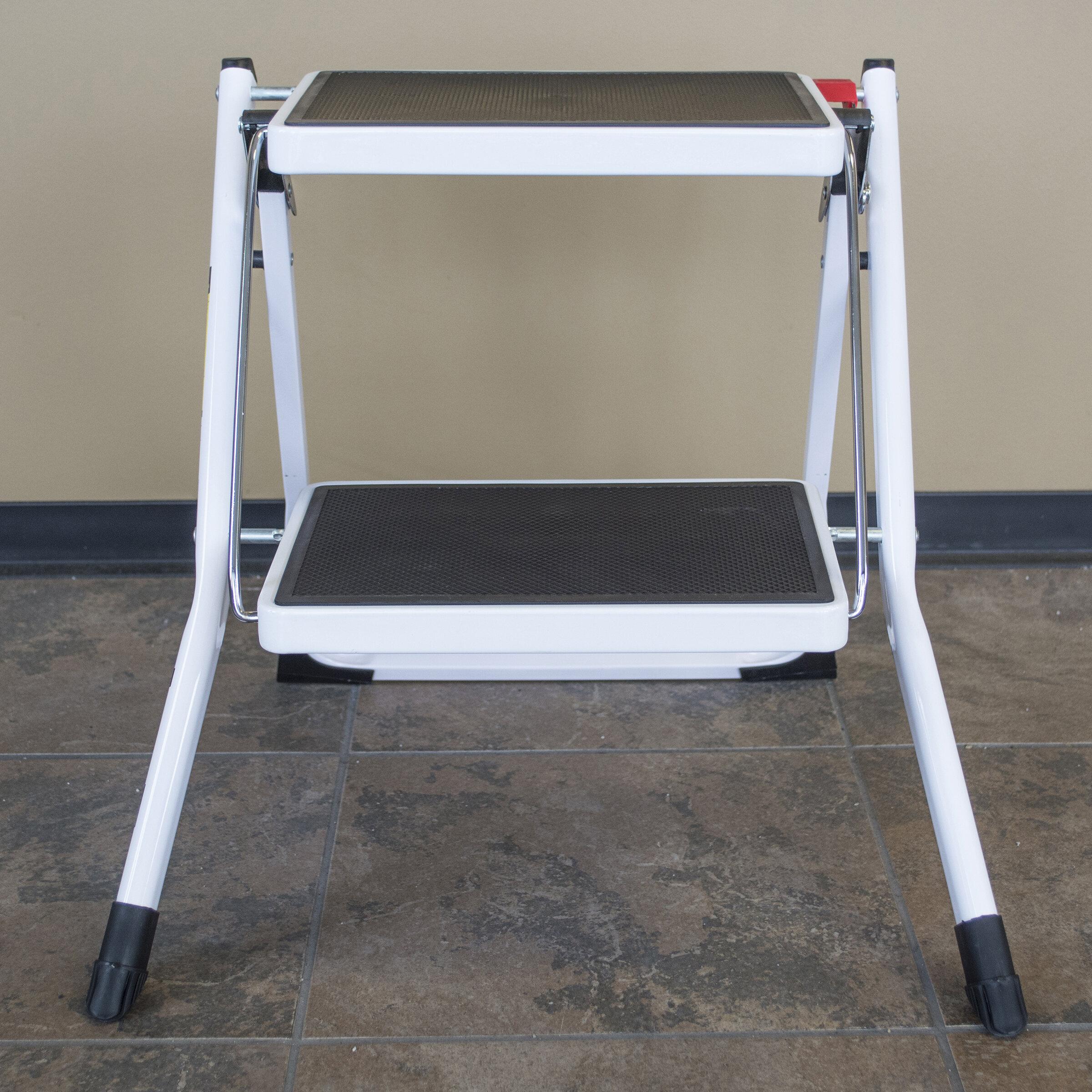 Wondrous 2 Step Steel Step Stool With 225 Lb Load Capacity Creativecarmelina Interior Chair Design Creativecarmelinacom