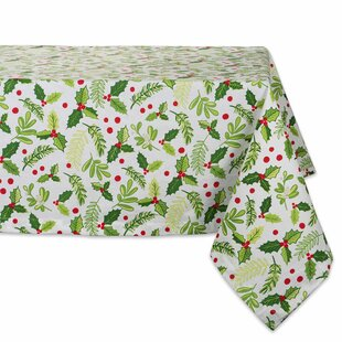 Tobias Boughs Of Holly Print Tablecloth by The Holiday Aisle Best Choices