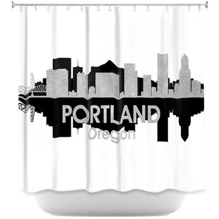City IV Portland Oregon Single Shower Curtain
