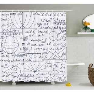Jasmine Modern School Genius Bright Student Math Geometry Science Numbers Formules Image Single Shower Curtain