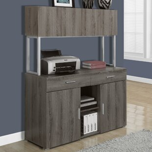Credenza Desk with Hutch by Monarch Specialties Inc.