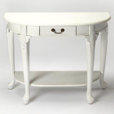 Pleasing One Allium Way Martiques Delmy Console Table Color White Uwap Interior Chair Design Uwaporg