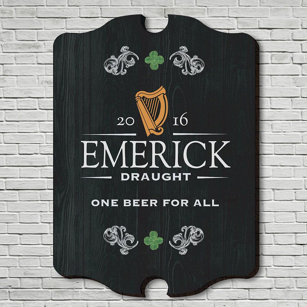 Home Wet Bar Irish Beer Personalized Bar Sign Wall Décor Wayfair