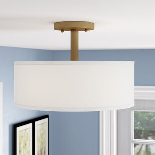 Jaida 3-Light Semi Flush Mount by Alcott Hill