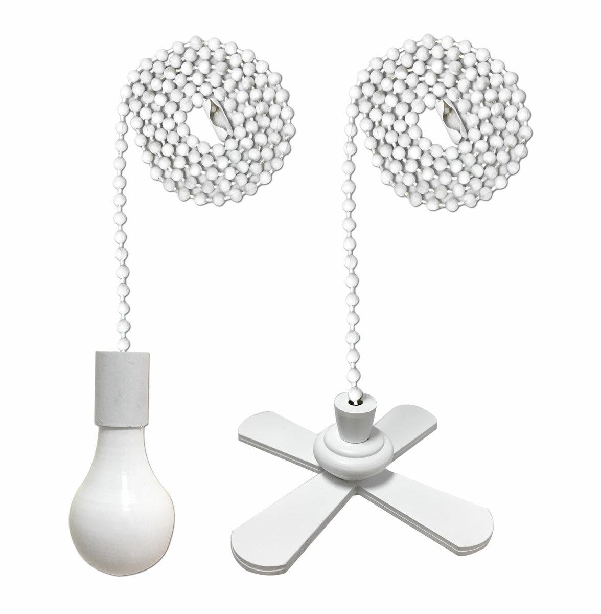 Royaldesigns 2 Piece Fan And Light Bulb Shaped Ceiling Fan Pull Chain Set Reviews Wayfair Ca