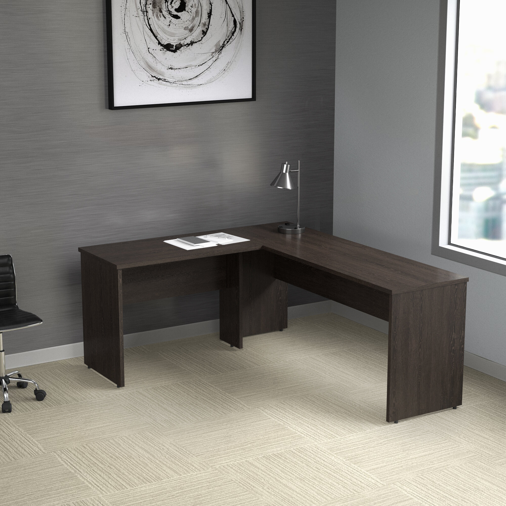 Espresso Wood Executive Desks You Ll Love In 2021 Wayfair