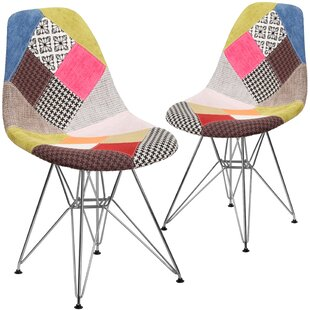 Review Ressler Curved Side Chair (Set of 2) by Wrought Studio