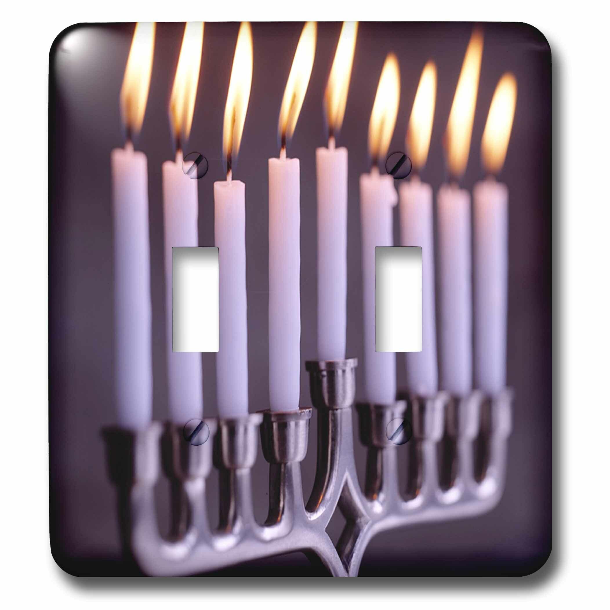 3drose Hanukkah Candles 2 Gang Toggle Light Switch Wall Plate Wayfair