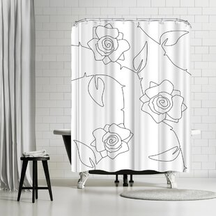 Explicit Design Rose Bush Single Shower Curtain