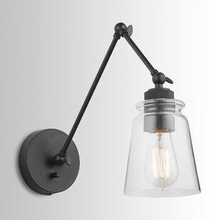 Brycen 1-Light Swing Arm Lamp by Longshore Tides