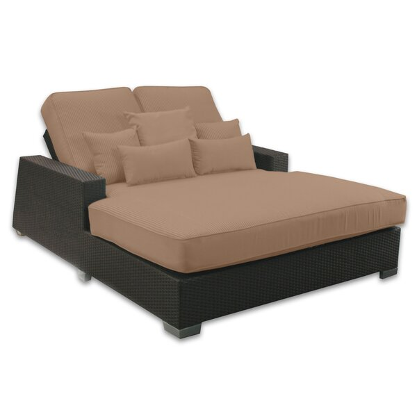 Patio Heaven Signature Double Chaise Lounge with Cushion u0026 Reviews | Wayfair  sc 1 st  Wayfair.com : chaise lounge mattress - Sectionals, Sofas & Couches