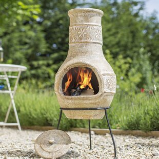 Bernadette Clay Wood Burning Chiminea By Sol 72 Outdoor