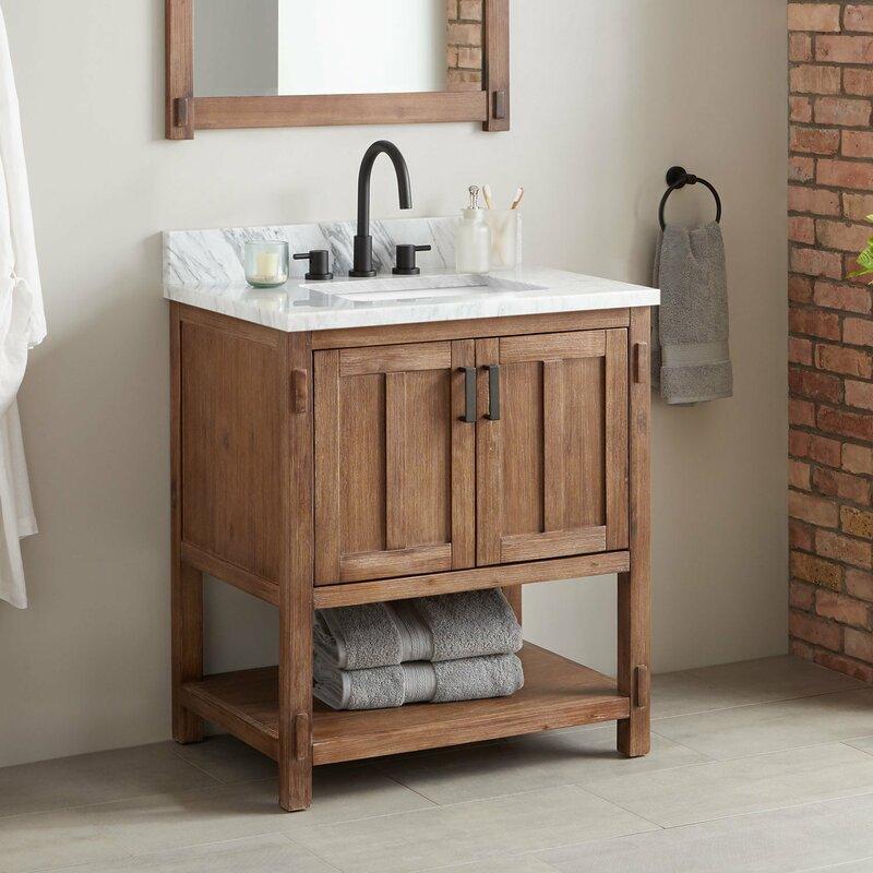 Signature Hardware Morris Marble 31 Single Bathroom Vanity Set Wayfair