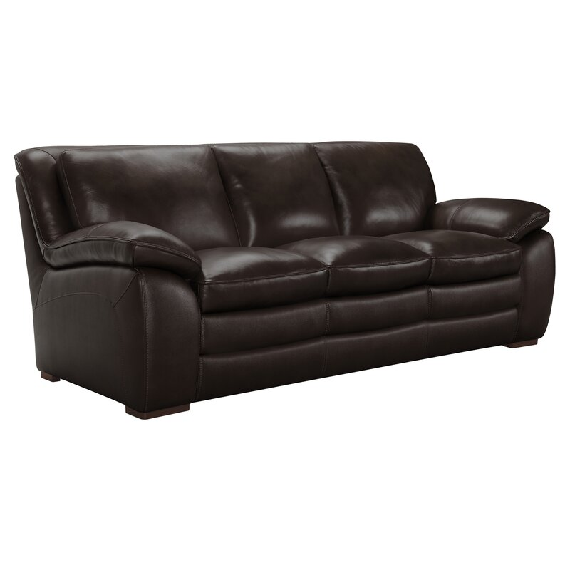 Latitude Run Talon Contemporary Leather Sofa & Reviews | Wayfair
