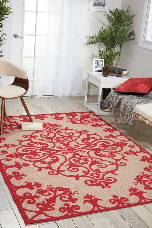 Farley Red Indoor/Outdoor Area Rug & Reviews | Joss & Main