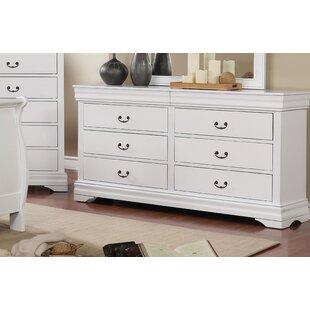 Hinrichs Transitional 6 Drawer Double Dresser ByCharlton Home