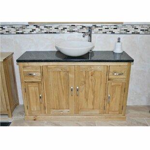 Delafuente Solid Oak 1230mm Free-Standing Vanity Unit By Belfry Bathroom