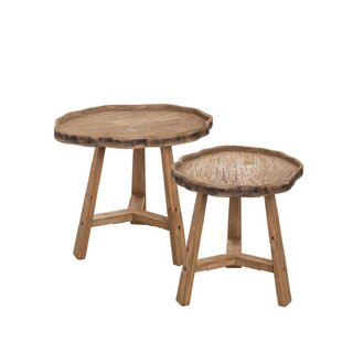 Marnisha Live Edge 2 Piece Nesting Tables