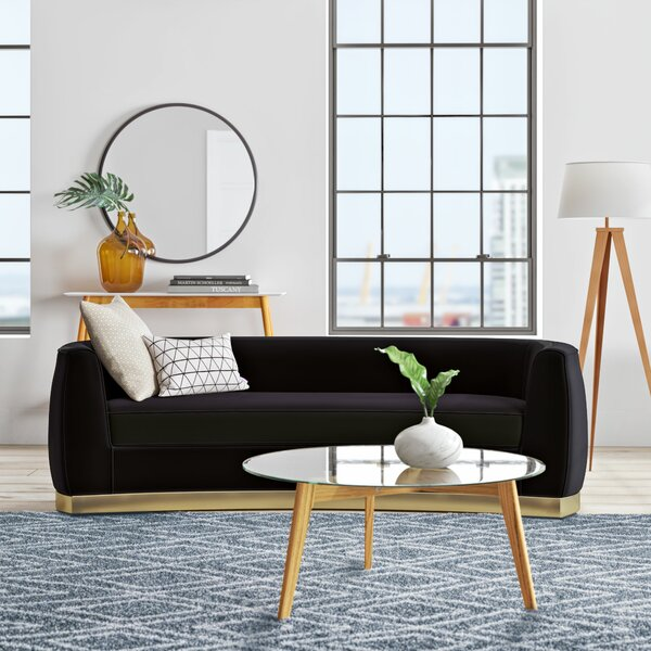 Surprising Modern Contemporary Curved Sofa Allmodern Onthecornerstone Fun Painted Chair Ideas Images Onthecornerstoneorg