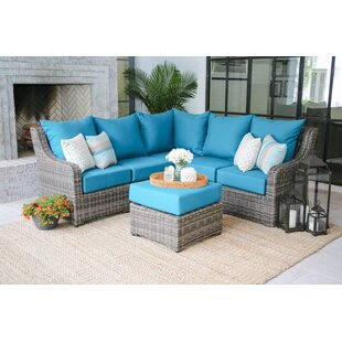 Laurel Foundry Modern Farmhouse Valentin Sectional Sunbrella Seating group with Cushions