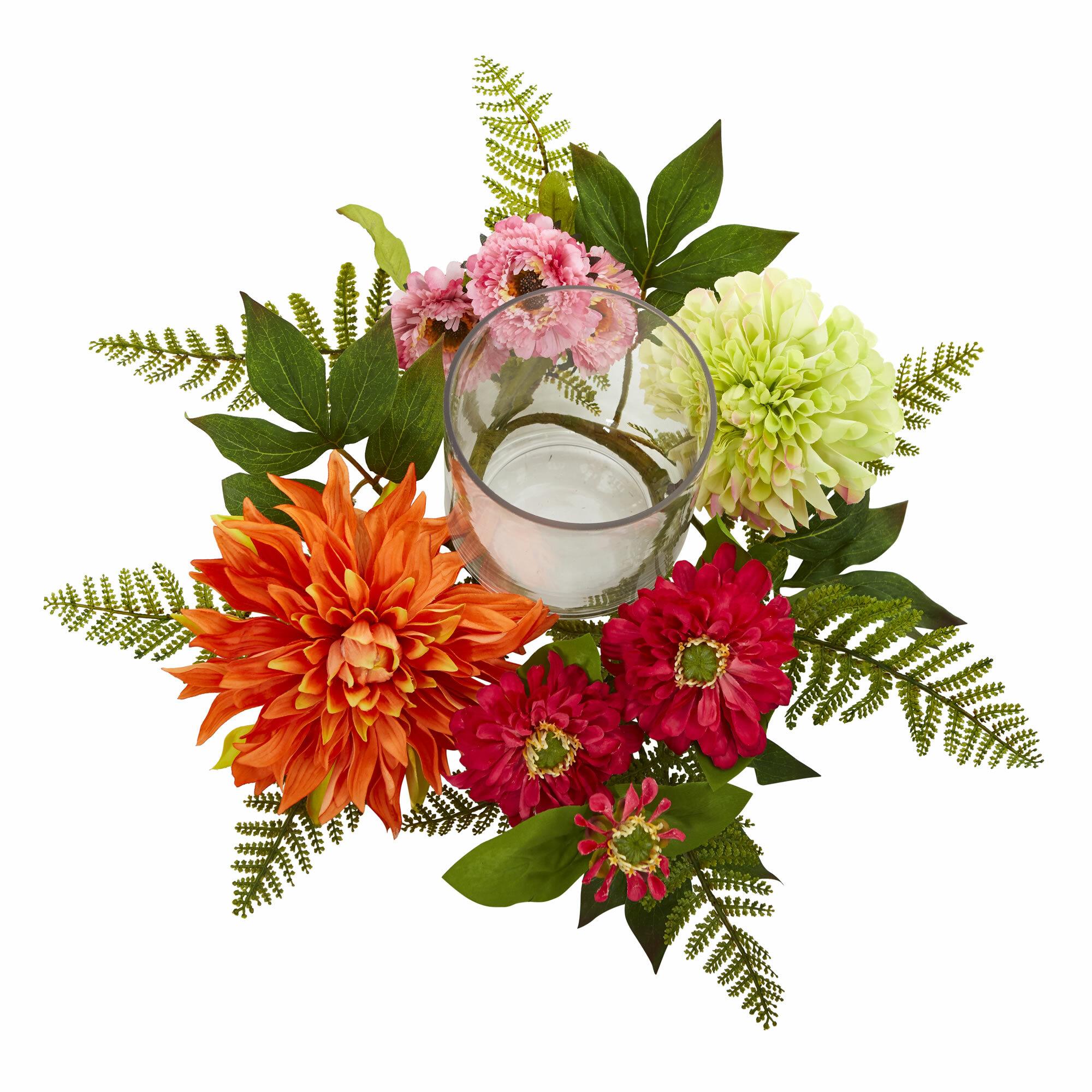 August grove mixed dahlia candelabrum floral arrangement wayfair izmirmasajfo