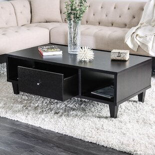 Glenwood Wooden Coffee Table with Storage by Ebern Designs