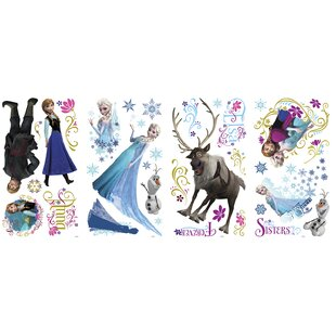 36 Piece Disney Frozen Characters Wall Decal Set By Room Mates