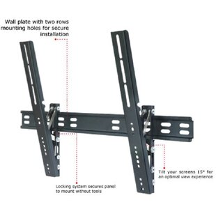 TygerClaw Ultra Slim Tilt Universal Wall Mount for 32 inch -63 inch  Flat Panel Screens