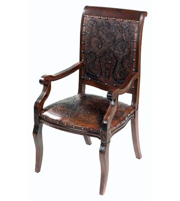 Navarette Handtooled Leather Armchair (Set of 4)
