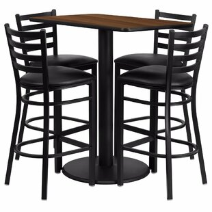 Catalpa 5 Piece Pub Table Set Red Barrel Studio