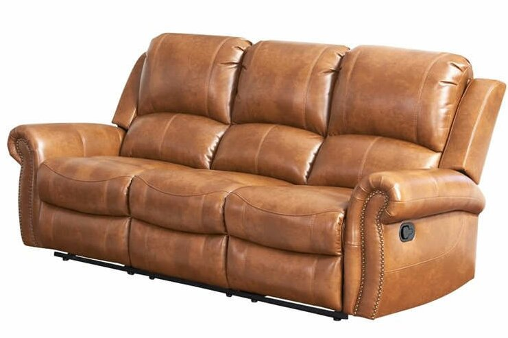 Preferred Darby Home Co Bitter Root Leather Reclining Sofa & Reviews | Wayfair YH19