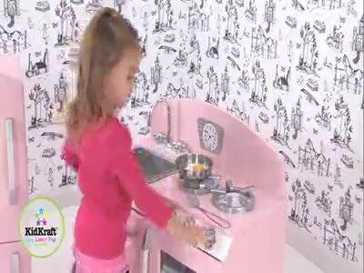 KidKraft Piece Retro Kitchen And Refrigerator Set Reviews Wayfair - Kidkraft pink retro kitchen and refrigerator 53160