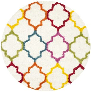 Madge Moroccan Ivory Area Rug by Zoomie Kids