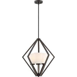 Ebern Designs Naccarato 3-Light Geometric Chandelier