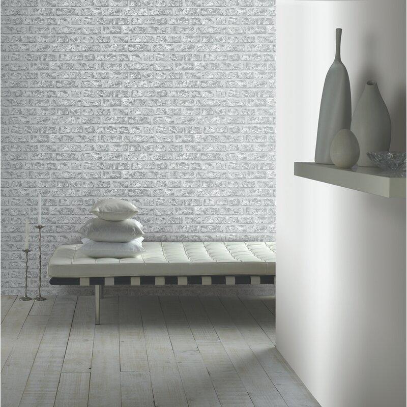 rustic brick 21 x 3 95 texture wallpaper roll