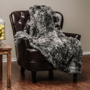 Trio Faux Fur Throw Blanket
