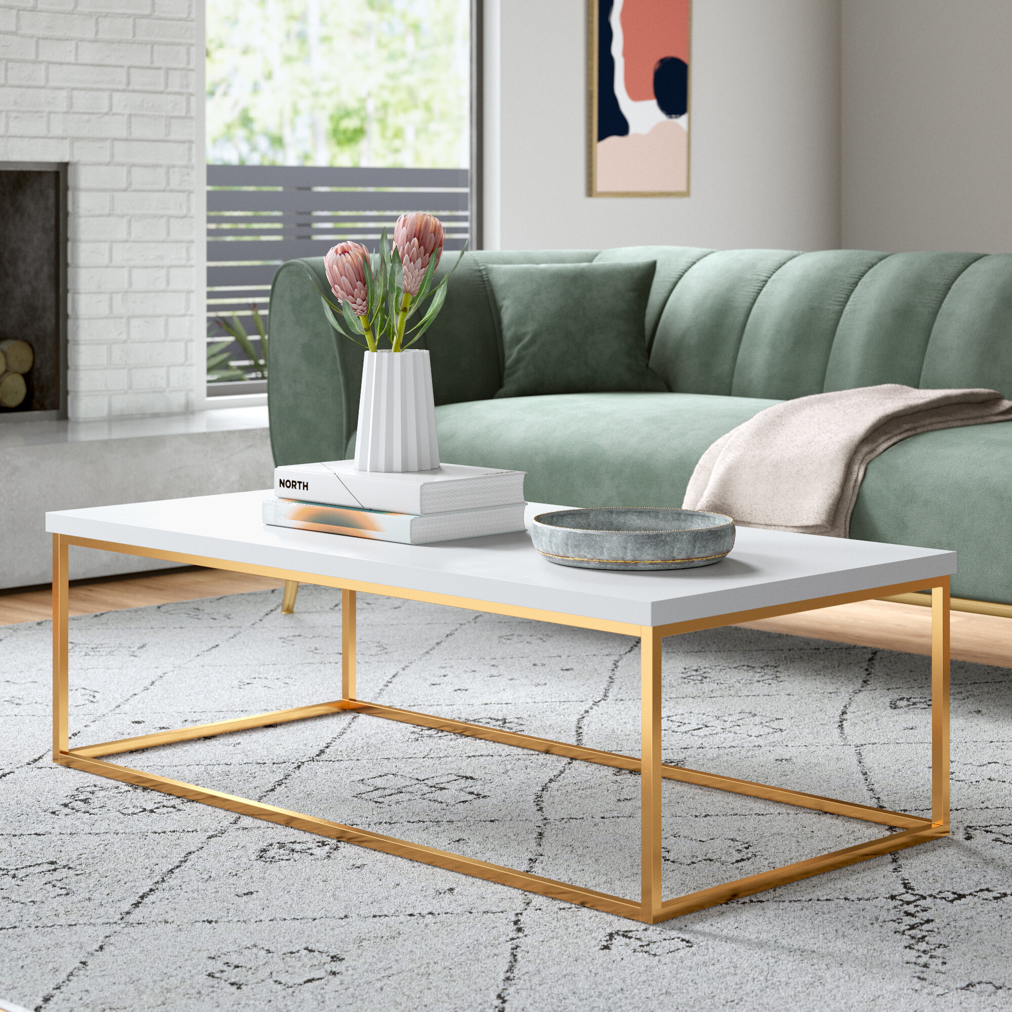 Modern Gold Coffee Tables Allmodern