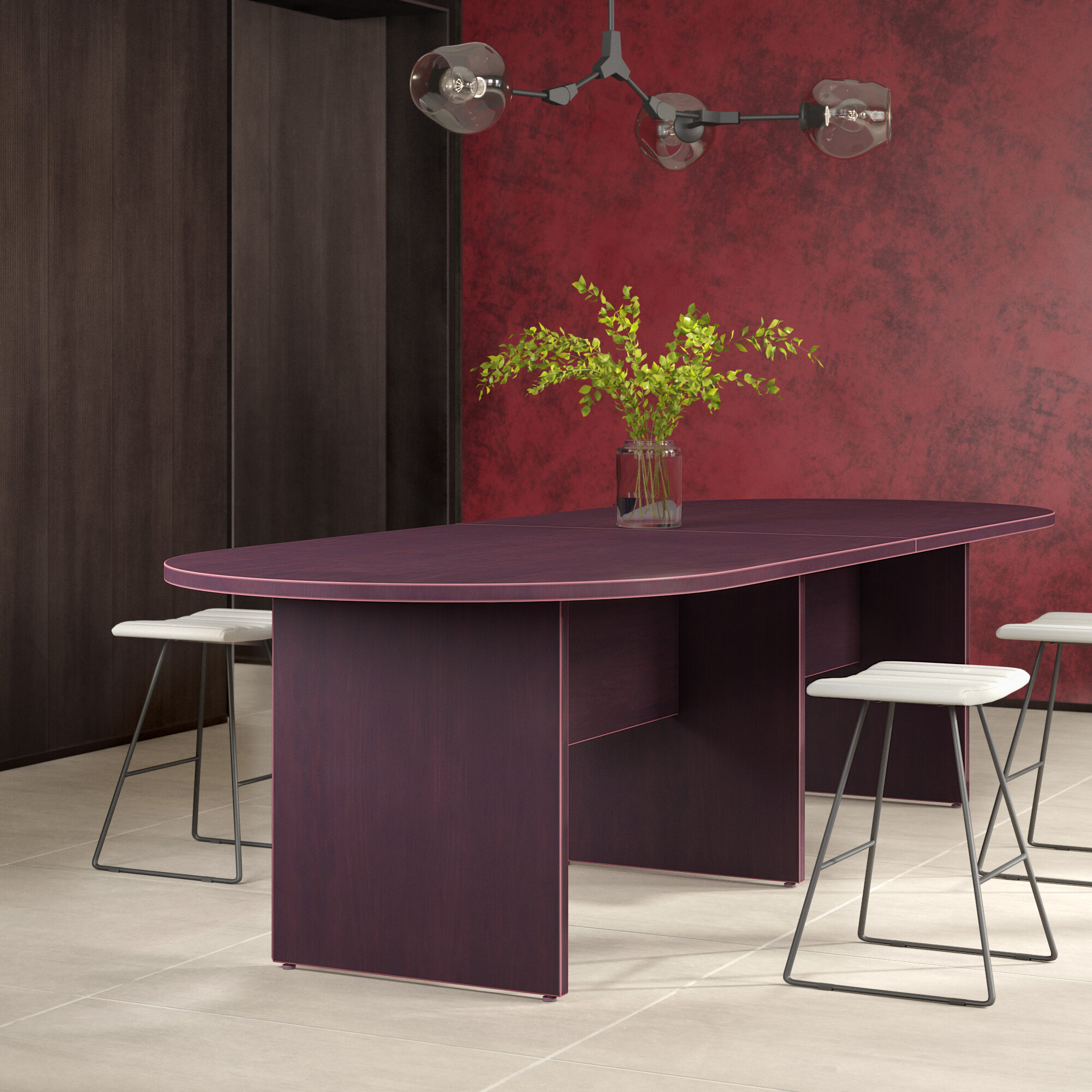 Superior Oval Conference Table