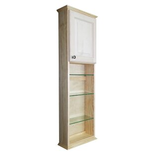 """Ashley Series 15.25"""" W x 49.5"""" H Wall Mounted Cabinet by"""