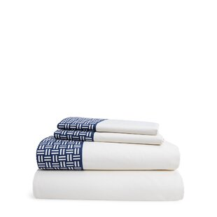 Nicola Basketweave 230 Thread Count Geometric 100% Cotton Sheet Set by Lauren Ralph Lauren Great price