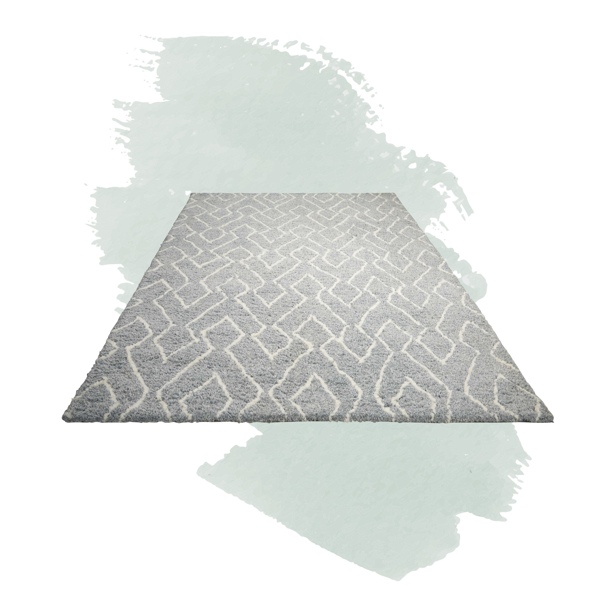 Foundstone Anthem Geometric Hand Tufted Gray Area Rug Reviews Wayfair