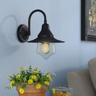 Best Reviews Bouvet Avige 1-Light Barn Light By Laurel Foundry Modern Farmhouse