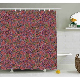 Aya Asian South Decor Single Shower Curtain