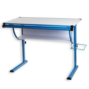 Blue 118 W Art Desk By Symple Stuff