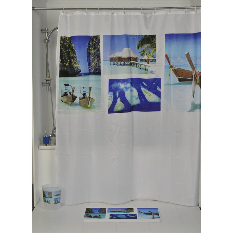 Evideco Paradise Printed Single Shower Curtain Wayfair