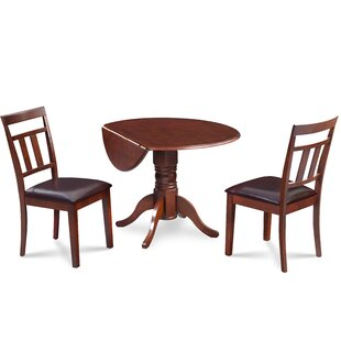 Chesterton 3 Piece Carved Solid Wood Dining Set Alcott Hill