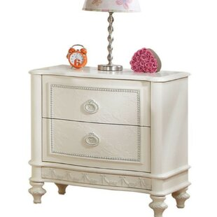 Grandview Wooden 2 Drawer Nightstand by Rosdorf Park